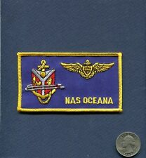 Aviator Name Tag NAS Naval Air Station OCEANA VA US NAVY Base Squadron Patch