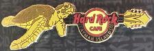 Hard Rock Cafe CAYMAN ISLANDS 2016 Green Sea TURTLE GUITAR PIN on CARD HR #88517