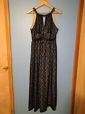 SOHO Apparel Ltd Formal Halter Lace Full Length Dress Size 10