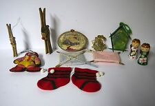 Christmas/Lot of 12 Vintage Assorted Most Homemade Ornaments W/Ronald McDonald