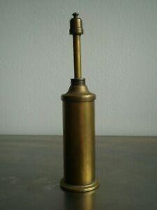 LAMPE PETROLE ANCIEN ALLUME GAZ REVERBERE DECO METIER TRAVAIL 19°s LAITON