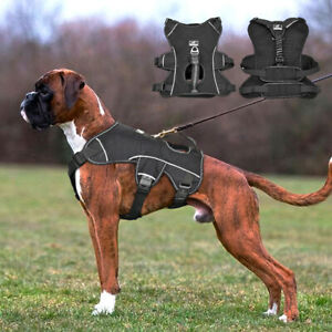 Reflective No Pull Dog Harness Strong Dog Vest with Lift Handle for Large Dogs