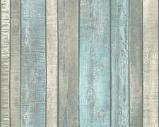 Vliestapete Holz-Optik Holzwand blau creme AS Creation 31993-2 (2,62€/1qm)
