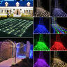 New 3M*2M 6M*4M Fairy String Net Lights Curtain Mesh LED Xmas Party Lamp 8 Modes