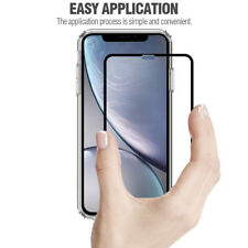 For Apple iPhone XR Poetic【Full Coverage】Tempered Glass Screen Protector Black