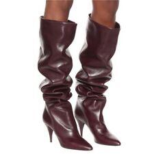 Sexy Over Knee High Thigh Boots Stilettos Pointy Toe Women's Nightclub 44/48 L