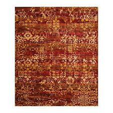 "7'7"" x 9'8"" Nourison Erased Pattern Traditional 100% Wool Oriental Area Rug Red"