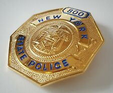 obsolate historical police badge.... New York State Police no.800
