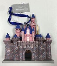 2019 Disney Parks Sleeping Beauty Aurora Castle Hand Painted Christmas Ornament