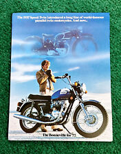 ORIGINAL 1977 TRIUMPH MOTORCYCLE BROCHURE T140V BONNEVILLE TR7RV TIGER-750