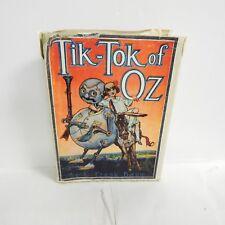 Tik Tok Of OZ L Frank Baum Hardback Dust Jacket 1914 Illustrated Vintage