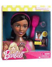 Barbie Styling Head Doll Fab Friends African American Black Hair 7 Piece Toy New