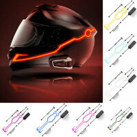 Motorcycle Helmet Night Riding LED Light Signal Flashing Stripe Sticker, 3-Modes