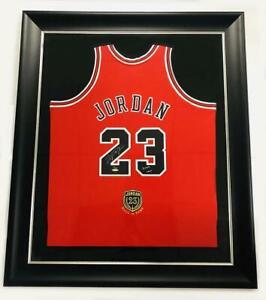 """MICHAEL JORDAN Autographed Bulls """"2009 HOF"""" Authentic Red Jersey UDA LE 9/123"""