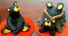 "Pair Of ~Bearfoot Bears~ ""Dylan"" And ""Bart"" ~Big Sky Carvers~ Fleming Figurines"