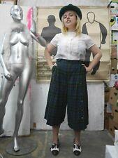 Woll-Culotte Tartan Winter Hosenrock M L 90er TRUE VINTAGE pants culottes 90s
