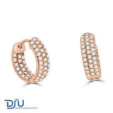14 Carat Rose Gold Hoop Fine Earrings