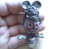 Vintage Rat Fink Hot Rod Hood Ornament Bolt On Big Daddy Ed Roth Car Club Member
