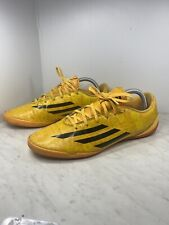 ADIDAS F10 IN Messi M18311 Men's Indoor Soccer Shoes Gold Core Black Size 10.5