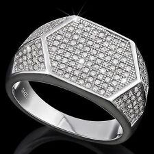 Diamo in 925 Sterling Silver Size 9.5 Elegant Men's Ring With 2 1/5 ct Simulated