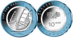 10 Euro BRD Deutschland 2021 bfr Auf dem Wasser Luft bewegt Niob Polymer