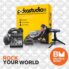 Behringer Podcastudio USB Bundle w/ Audio Interface Pod Castudio -Belfield Music