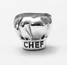 "Authentic Pandora Chef Hat ""I Love Cooking"" Charm #791500 Pandora TAG Included"