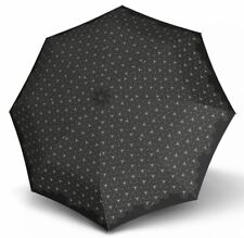 Knirps X.200 Medium Duomatic Lotus Black Folding Umbrella, 29 cm, AUS Stock