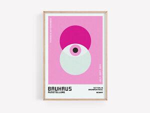 Bauhaus Modern Abstract Print Decor Poster Colourful Fine Art  A2 A3 A4 A5
