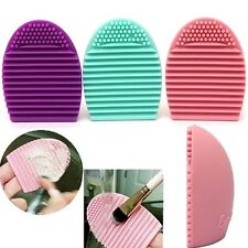 Silicone Makeup Brush Cleaner Cleaning Egg Brush Scourer Squeegee pad