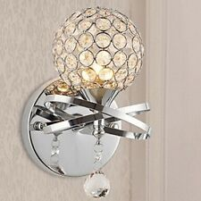 Crystal Wall Sconce, Wall Light, Chrome and Crystal, Contemporary Wall Light