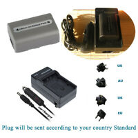 Battery Or Charger for Sony Handycam DCR-DVD92E DVD205E DCR-HC18E NP-FP50 NPFP51