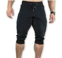 Men Gyms For Workout Jogger Sporting Thin Shorts Black Bodybuilding Male Fitness