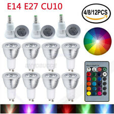 Dimmable G10 E14 LED RGB Spotlight Bulb Lamp 16 Colour Changing Remote Control