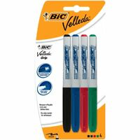 8 X Bic Velleda Whiteboard Dry Wipe Erase Fine Tip Marker Pens Memo Pad Marking