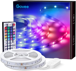 Govee Led Strip Lights, 65.6 Feet with Remote Control, RGB, for Bedroom, Kitchen