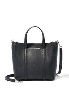 MARC JACOBS Black Mini Tag Tote Bag