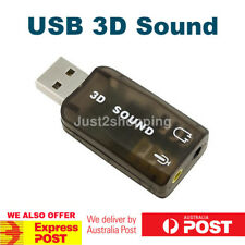 USB 2.0 to 3d Audio Sound Card External Adapter Virtual 5.1 CH Headphone Mic