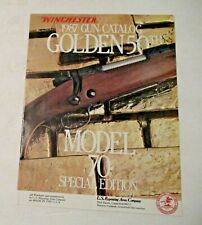 NOS VINTAGE 1987 WINCHESTER ADVERTISING MODEL 50 EDITION GUN SHOOTING CATALOG