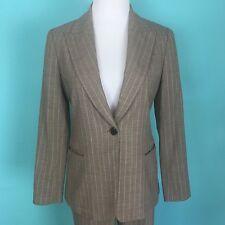 Lafayette 148 Beige Pinstripe Wool Blend Jacket and Pants Size 6 Petite