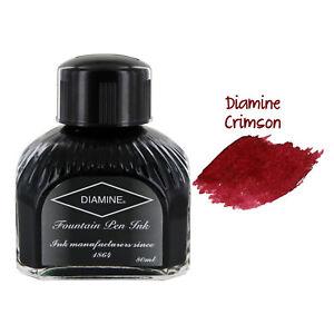 Diamine Fountain Pen Bottled Ink, 80ml - Crimson