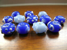 Glass Rondelle Blue Jewellery Making Beads