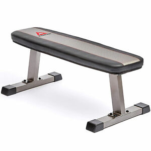 Reebok RBBE-10221 Home Gym Exercise Equipment Workout Weight Training Flat Bench