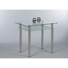 Esstisch Küchentisch Tommy kleiner Tisch Glastisch 90x60 mit Ablage