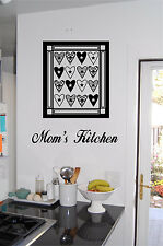 Personalized Kitchen Sign & Quilt Wall Sticker Wall Art Decals Kitchen Decor