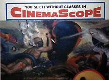 DEEP SEA DIVING orig 1953 movie poster BENEATH THE 12-MILE REEF/ROBERT WAGNER