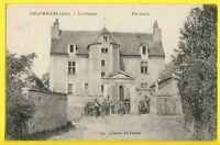 cpa RARE Ecrite en 1918 COLOMBIERS (Cher) Le CHÂTEAU Animés The Castle