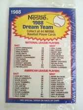 1988 Nestle Foods Dream Team Sealed Baseball Card 4 Pack Tony Gwynn on Back