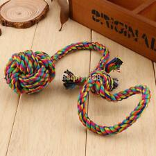 Striped Rope Dog Puppy Pet Chew Toy Knots Large Cotton Strengthen Teeth Ball UK