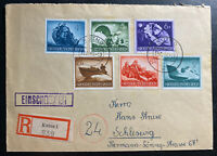 1944 Kutno Germany Registered Cover To Schleswig Forces Semipostal Stamp